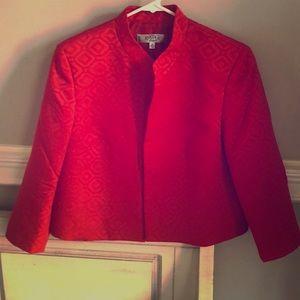 Kasper fly away jacket in red